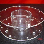 round clear cake pop stand