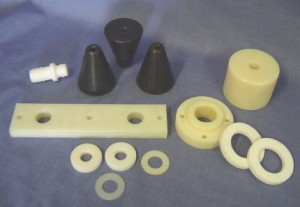 Nylon wear plates and rings