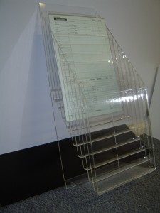 Acrylic Magazine Rack - Pacific West Plastics